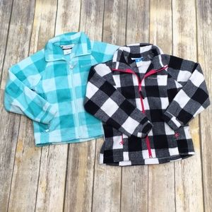Pair of Girl's Columbia Fleece Sweatshirts